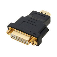 Black Dual LInk DVI-I Female to HDMI Male Plug Converter Adapter LW SZUS