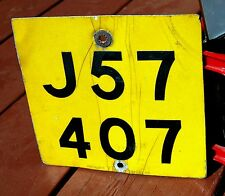 JERSEY, Channel Islands - 1980s vintage motorcycle license plate - nice used