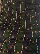 Polo Ralph Lauren Vintage Shield Crest  Comforter - Navy/Dark Green - Twin Size