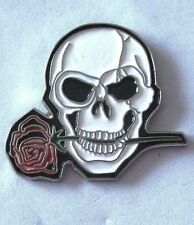 Metal Enamel Pin Badge Brooch Skull and Rose