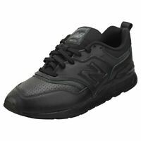 New Balance 997h Mens Black Leather Casual Trainers