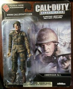 CALL OF DUTY FINEST HOUR: American G.I. Action Figure - SUPERIOR CONDITION