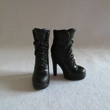 NEW Barbie Doll Black High Heel Hiking Boots ~ Shoes Footwear