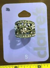 Flower Cute Jewellery Rrp £5.50 Claires Claire's Small Ring Metal Gem