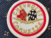 CHEVROLET ORIGINAL CORVETTE EMBROIDERY PATCH TO WEAR ON CLOTHING
