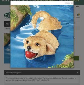 Resin Floating Dog, Pond, Waterfall, Garden. Decoration, Yard Art