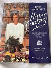 Linda McCartney's Home Cooking Vegetarian Cook Book(Hardback) First Edition 1989