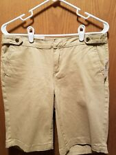 Anne Klein Womans Beige Stretch Burmuda Shorts Size 6 NWT NEW