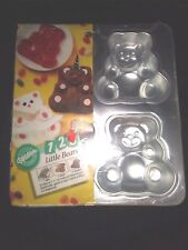 Wilton Little Bears Cake Jello Baking Pan 4 5-Inch Molds in 1 Pan 2105-9437