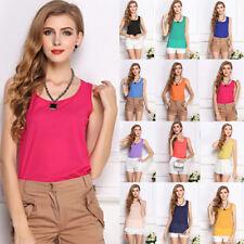 Ladies Women Tank Top Chiffon Cami Vest T-Shirt Summer Singlet Camisole Sports