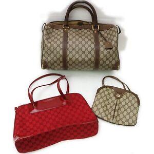 Gucci PVC Canvas Shoulder/Hand Bag 3 pieces set 520984