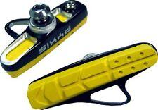 New CNC Bicycle Road Bike For Brake Shoes 1 Set 2 Pcs Yellow Pads Free Shipping