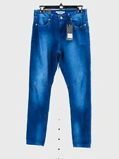 Maison Scotch Women's Blue Textured Mademoiselle Relaxed Fit Size 26 NEW