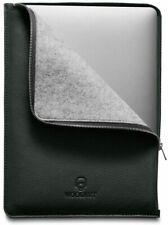 Woolnut Leather & Wool Folio Zipper Sleeve Case Cover, for MacBook Pro 13 & Air