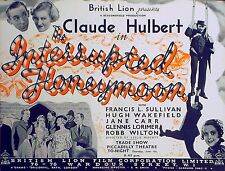 INTERRUPTED HONEYMOON 1936 Claude Hulbert Francis L. Sullivan TRADE ADVERT
