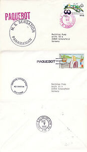 PANAMA CRUISE SHIP MS SENSATION 2 SHIPS CACHED COVERS