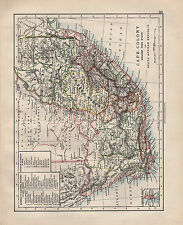 1902 VICTORIAN MAP ~ SOUTH AFRICA CAPE COLONY ELECTORAL DIVISIONS NATAL WALFISCH
