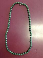 """Jade Beaded Necklace 24"""" Knotted"""