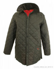 """Barbour Mens Liddesdale Quilted Jacket Coat Brown XS 46"""" New Rare Colour"""