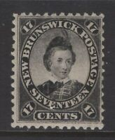 NEW BRUNSWICK 11 1860 17c BLACK PRINCE OF WALES MNH CV $225