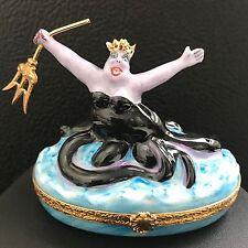 Ursula The Sea Witch the Little Mermaid ARTORIA LIMOGES PEINT MAIN DISNEY