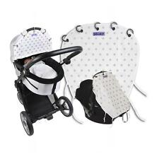 Dooky Universal Sun Shade Pram Carseat Pushchair UV 40 Protection Silver Stars