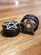 Pair Bamboo Wire Star Wooden Ear Plugs Flesh Tunnels Stretcher Taper 8-25mm