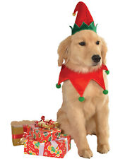 Dog Pet Puppy Buddy The Elf Christmas Holiday Hat With Bell S/M