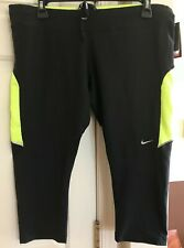NWT NIKE DRI FIT BLACK WORKOUT/ RUNNING  CAPRIS SZ XL