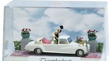 "7646 Busch HO-scale 1:87 ""dream wedding"" diorama Mercedes 300 Landaulet 1960"