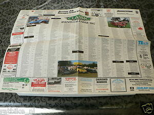 110 POSTER  EVENTS CALENDAR 1988 CLASSIC AND SPORTSCAR
