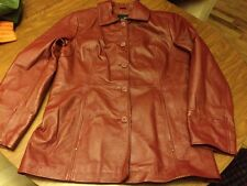 East 5th Women's Genuine Leather Coat Brick Red Size L