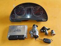 AUDI A4 B6 SALOON '04 S-LINE BFB ENGINE CONTROL UNIT ECU KIT BOSCH 8E0909518AL