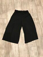 EUC WHBM womens black balloon stretch pants size Small rayon