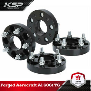 """4x1"""" Wheel Spacers Hubcentric 5x110 M12x1.5 Studs 65.1mm Fit Jeep Renegade 4WD"""
