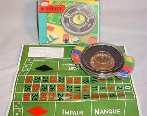 VINTAGE CRESTLINE MINIATURE ROULETTE WHEEL GAME