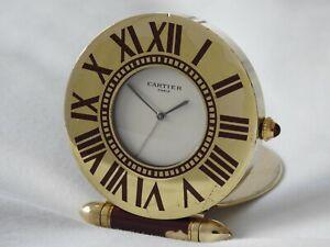 Cartier Must De Cartier travel alarm clock - with carrying pouch