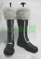 D.Gray-man Jasdero Black Short Cosplay Shoes Boots S008