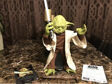 Star Wars Legendary Jedi Master Yoda wLightsaber Figure Moves Talks Discontinued