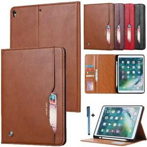 """For iPad 7th Gen 10.2"""" 2019 Leather Card Wallet Pencil Holder Stand Case Cover"""