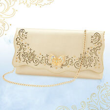 NEW Disney Store Exclusive CINDERELLA Live Action Purse Clutch Gold Butterfly
