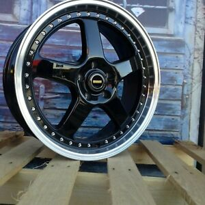 "20"" ForgeAuto Simmons Style Wheels in Black Machined Lip suit Holden Commodore"