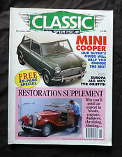 Classic and Sportscar, Sept 1992, Mini Cooper's guide, Restoration supplement