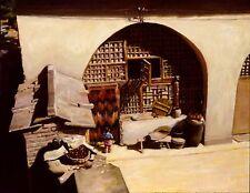 "Original Oil painting ""Noon""by Qi Debrah,Lanscape,Children,17""x14"",1998,signed"
