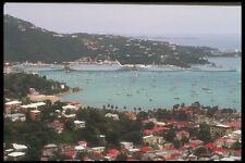 203022 Cruise Ship In Port At Charlotte Amalie St Thomas A4 Photo Print