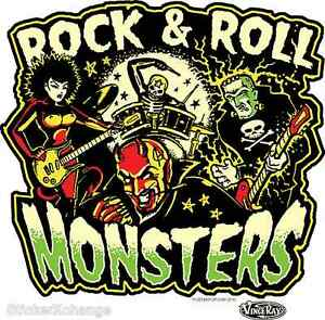 Rock & Roll Monsters Sticker Decal Art Vince Ray VR55
