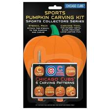 Chicago Cubs Halloween Pumpkin Carving Kit NEW! 6 patterns