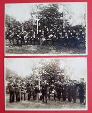 2 x Militär Foto AK Musiker Kapelle    ( 24807