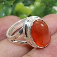 Carnelian Gemstone Solid 925 Sterling Silver Ring Handmade Jewelry