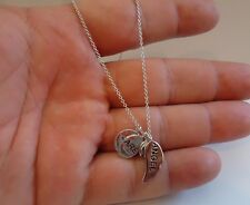 "925 STERLING SILVER NECKLACE PENDANT W/ WORDS "" YOU ARE MY ANGEL"" / NEW DESIGN!!"